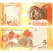 Венесуэла бона 5 боливар 2007