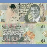 Багамские острова бона 1 доллар 2015