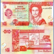 Белиз бона 5 долларов 2011
