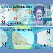 Каймановы острова 1 доллар 2014 бона