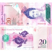 Венесуэла бона 20 боливар 2011