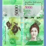 Венесуэла бона (97a) 5000 боливар 2016