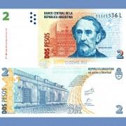 Аргентина бона 2 песо 2002