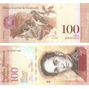 Венесуэла бона 100 боливар 2012