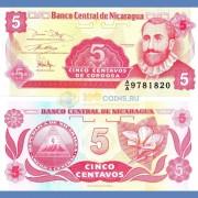 Никарагуа бона 5 сентаво 1991