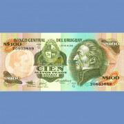 Уругвай бона 100 песо 1987