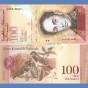 Венесуэла бона 100 боливар 2015