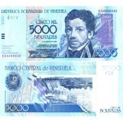 Венесуэла бона 5000 боливар 2002