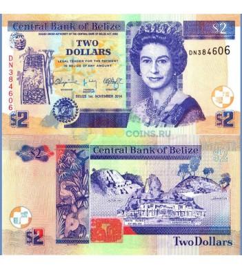 Белиз бона 2 доллара 2014