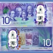 Канада бона 10 долларов 2017 юбилейная