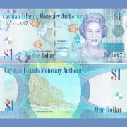 Каймановы острова 1 доллар 2010 бона
