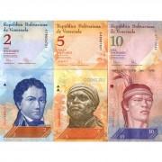 Венесуэла набор банкнот 2 5 10 20 50 100 боливар