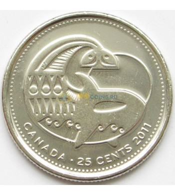 Канада 2011 25 центов Косатка