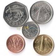 Барбадос 2008-2016 набор 5 монет