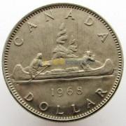 Канада 1968 1 доллар Каноэ