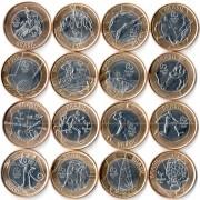Бразилия 2014-2016 Набор Олимпиада в Рио 16 монет