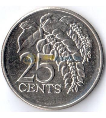Тринидад и Тобаго 2005 25 центов Варшевичия алая