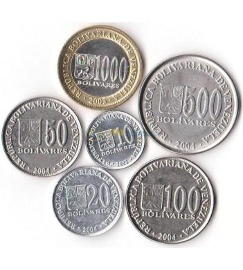 Венесуэла 2002-2005 набор 6 монет