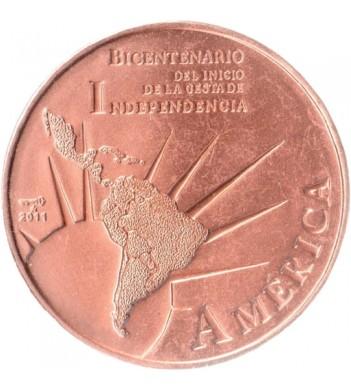 Куба 2011 1 песо 200 лет независимости Америки