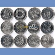 Канада набор 2000 12 монет Миллениум