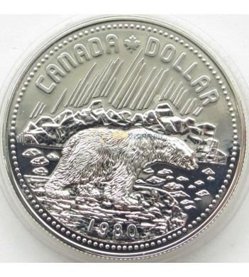 Канада 1980 1 доллар Медведь