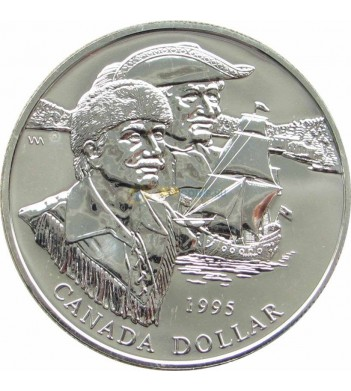 Канада 1995 1 доллар Компания Гудзонова залива