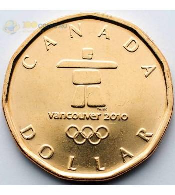 Канада 2010 1 доллар Олимпиада в Ванкувере