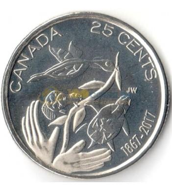 Канада 2017 25 центов 150 лет Конфедерации