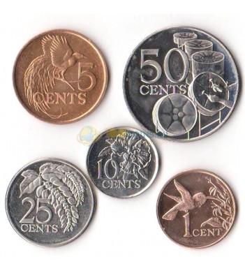Тринидад и Тобаго 1976-2016 набор 5 монет