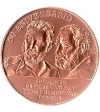 Куба 2010 1 песо 50 лет встрече Фиделя Кастро