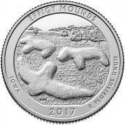 США 2017 Квотер национальные парки №36 Эффиджи-Маундз (D)