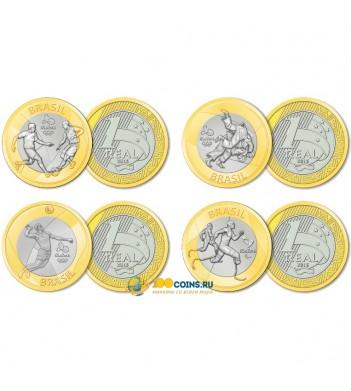 Бразилия 2015 Набор №3 Олимпиада в Рио 4 монеты