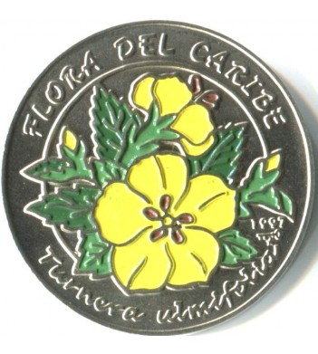 Куба 1997 1 песо Тёрнера ильмолистная