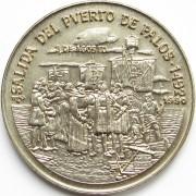 Куба 1990 1 песо Открытие Америки порт Палос