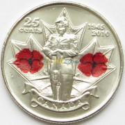 Канада 2010 25 центов 65 лет Победы в войне