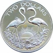 Багамские острова 1976 2 доллара Фламинго