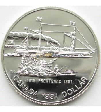 Канада 1991 1 доллар Фронтенак пароход