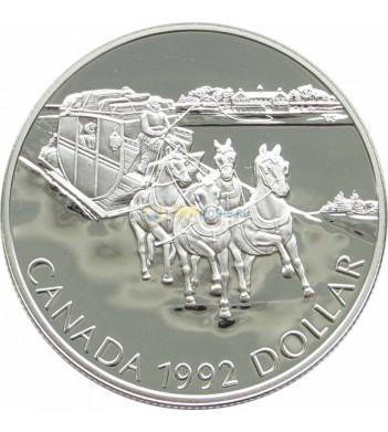 Канада 1992 1 доллар Кингстонский дилижанс proof