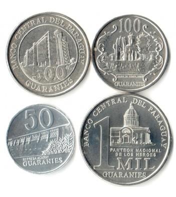 Парагвай 2007-2011 Набор 4 монеты