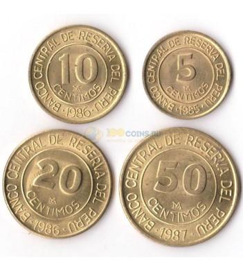 Перу 1985-1988 набор 4 монеты