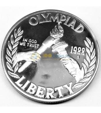 США 1988 1 доллар Олимпиада в Сеуле (proof) S