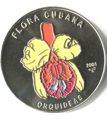 Куба 2001 1 песо Орхидея желтая