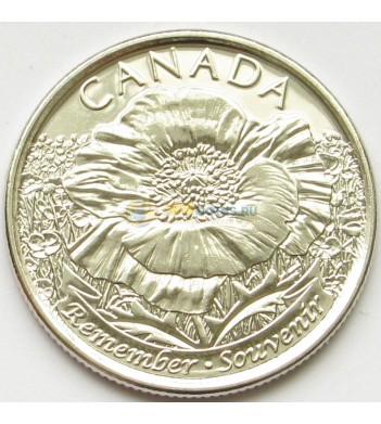 Канада 2015 25 центов 100 лет Первой Мировой войны