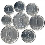 Бразилия 1986-1988 Набор 8 монет Звезды