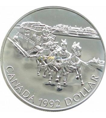 Канада 1992 1 доллар Кингстонский дилижанс