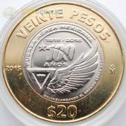 Мексика 2015 20 песо 100 лет ВВС Мексики