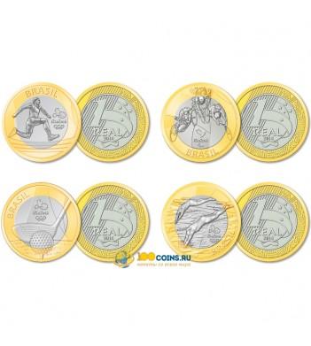 Бразилия 2014 Набор №1 Олимпиада в Рио 4 монеты
