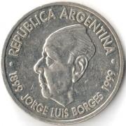 Аргентина 1999 2 песо Хорхе Луис Борхес