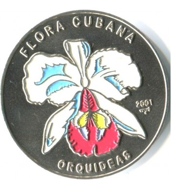 Куба 2001 1 песо Орхидея белая