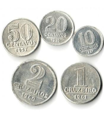 Бразилия 1956-1965 Набор 5 монет
